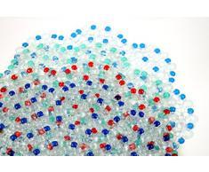 Tapis de douche versch. Farben - K & B Distribution de tapis de douche fleur rond Tapis antidérapant Tapis de bain 371 Bleu Bleu foncé