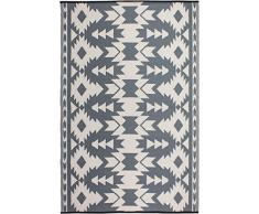 FAB HAB Réversible, intérieur/extérieur Météo Resistant Tapis de Sol - Miramar - Grey (90 cm x 150 cm)