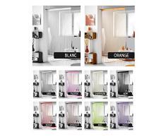 Rideau fils - 140 x 240 cm - Différents coloris Noir