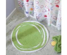 InterDesign Doodle rideau douche, rideau baignoire et douche 183,0 cm x 183,0 cm en polyester, rideau de bain avec motif graphique, coloré