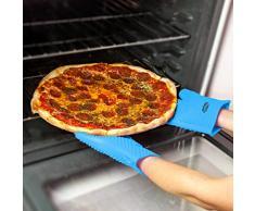 Molecule gants de griller de silicone, le bicarbonate de gants 1 paire de gants et maniques, des barbecues parfaits anti-chaleur, l'ébullition de l'eau à l'épreuve, la résistance à haute température, bon outil pour la cuisine, d'une taille plus