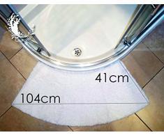 moyenne tapis de douche courbée noir