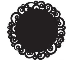 Wilton 2104-0220 Napperons 12 6Pack de-Black Swirl