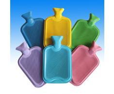 Bouillotte en caoutchouc XXL 2 litres Convient pour réchauffer le lit Disponible en 6 couleurs