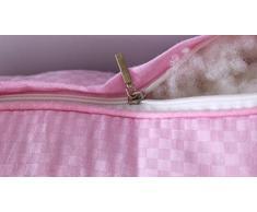 Yyzhentou Oreiller Oreiller, Sarrasin/Fibre Oreiller/Soins De La Colonne Cervicale/Confortable/Fluffy Haute Elasticité/Deux 45x70cm, for La Douleur du Cou/Épaule (Color : Pink)