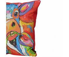 Madison Vache Coussin décoratif multicolore 50 x 50 cm