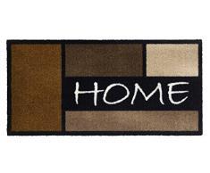 Paillasson tapis paillasson paillasson schmutzmatte sauberlaufmatte paillasson tapis paillasson home-modèle robuste avec home carrée camel/marron/paillasson pour l'intérieur et l'extérieur - 100% polyamide, 600 gr/m2 chromojet