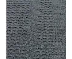 Lot de 6 torchons à vaisselle 100% coton gaufré de pique dans Anthracite uni gris foncé. 50 x 70 cm Belle Design Serviettes de cuisine. Lavable, Passe au sèche-linge et résistant. 4 faces doublé. Chiffon Sec Avec très