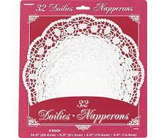 Papier Blanc napperons, assortis Lot de 32
