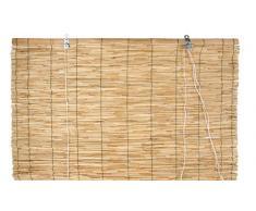 Verdemax 6708 Store Enrouleur en Bambou Brut 1,2 x 2.6 m Fermeture par Fil en Nylon avec poulie