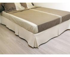 Cache sommier plateau 3 plis 160x200 cm beige