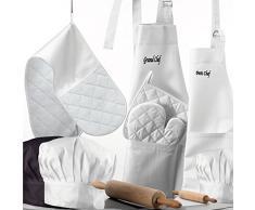 Winkler - Toque - Toque de cuisinier - Toque de chef - Chapeau de cuisine - Toque légère - Blanc - Chef