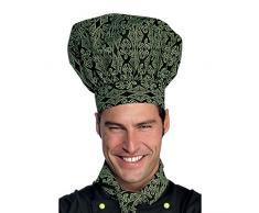 Toque de chef cuisinier noir vert