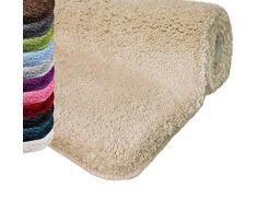 casa pura Tapis de Bain Grande Taille Qualité Premium Oeko Tex | Epais, Moelleux, Absorbant | Lavable en Machine | Plusieurs Tailles et Couleurs | Beige - 70x120cm