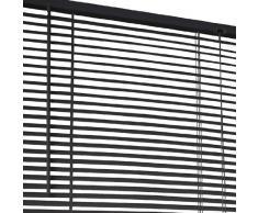 Jago - Store vénitien - JLSPVC07 - en plastique - Noir - 70 cm X 220 cm - DIVERSES COULEURS AU CHOIX