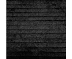 Coussin fausse fourrure Noir 40 x 40 cm Loup