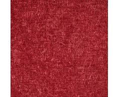Linder 0531/69/375FR Rideau Aspect Velours Velouret Rouge Oeillets 145 x 260 cm