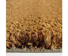 Paillasson - tapis propreté fibre coco naturelle, Écru, 23mm 50x100cm