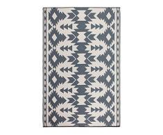 FAB HAB Réversible, intérieur/extérieur Météo Resistant Tapis de Sol - Miramar - Grey (120 cm x 180 cm)
