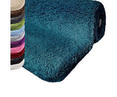 casa pura Tapis de Bain Qualité Premium Oeko Tex   Epais, Moelleux, Absorbant   Lavable en Machine   Nombreuses Tailles et Couleurs   Turquoise - 50x60cm