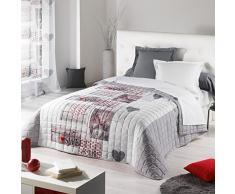 Couleur Montagne 3001182 Couvre-Lit Polyester Imprime 240 x 220 x 240 cm