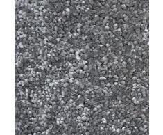 casa pura Tapis de Salon   Effet Velour : Tapis Doux   Tapis Polypropylène Résistant   Idéal Tapis Chambre   Tailles & Couleurs au Choix   Sundae - Anthracite, Tapis Carré 160x160 cm