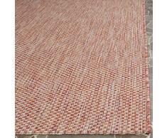 Safavieh CY8521-36521-5 Como Tapis d'intérieur/extérieur Matériel Synthétique/Polypropylène Rouge/Beige 160 x 231 cm