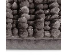 casa pura Tapis de Bain Chenille - Tapis de Douche   Tapis Salle de Bain Antidérapant   Standard Oeco Tex   10 Couleurs Rayonnantes   Gris Foncé - 70x120 cm