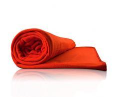 Plaid couverture rouge 200x150 cm canapé chambre plaid polyestère couverture