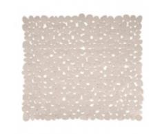 MSV Tapis de Douche PVC Galets - 53x53 cm - Beige, 100%