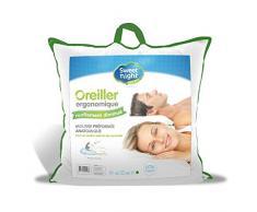 Sweetnight Oreiller Ronflement Diminué 60x60 cm - Ergonomique -Diminue les ronflements - Gonflant Doux Confortable