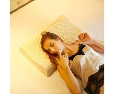 Ergonomique cervicale Oreiller, col de l'utérus Massage Profond Sommeil Cou Oreiller, intégré brou de Sarrasin/thé Vert/Lavande, Aide à Dormir (Color : A, Size : 30 * 50cm)