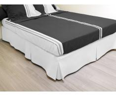 Cache sommier plateau 3 plis 140x190 cm blanc