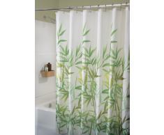 InterDesign Anzu rideau douche, rideau baignoire lavable de 183,0 cm x 183,0 cm en polyester, rideau salle de bain avec motif florale, vert