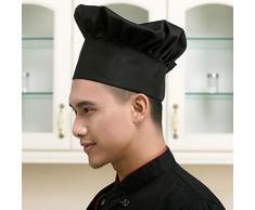 JUNGEN Chef Chapeau Bonnet pour BBQ Cuisine Toque Unisexe Élastique Réglable