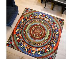 Max Home@ Exotique Tapis carré Tapis coloré Salon Chambre Patchwork Pieds antidérapants Canapé Mat Cup ( taille : 150*150cm )