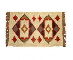 Handicraft Bazarr Grand Tapis de Salon bohème Fait à la Main - Tapis Indien Ethnique Kilim - Fait à la Main