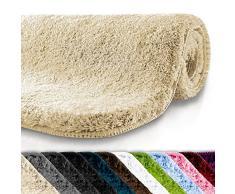 casa pura Tapis de Bain Grande Taille Qualité Premium Oeko Tex   Epais, Moelleux, Absorbant   Lavable en Machine   Plusieurs Tailles et Couleurs   Beige - 60x100cm