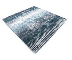 Moderne Abstrait Manche de manche (6 'x 6') carré MIRAGE Bleu contemporain Tapis Zone