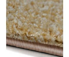 Tapis shaggy casa pura® tapis poil long   tapis doux, épais   Qualité allemande   tapis carré 200x200   tailles et couleurs au choix   Barcelona, 200x200cm - beige