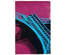 Un Amour de Tapis 19815 Eiffel Tapis Salon Laine Rose 180 x 270 cm