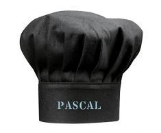 Kadocom Toque de Chef Noire Adulte personnalisée à Son prénom