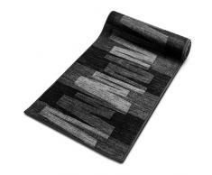 Tapis Carré 100x100 casa pura® Design Noir Moderne | 100% Polyamide Doux | Dos Antiderapant | Noir, 100x100cm - Veneto