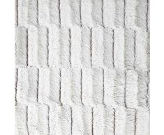 Plaid façon fourrure Alaska Blanc 130 x 150 cm