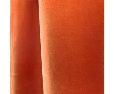 Rideau Arthur à Oeillets (150x260cm) Orange • Velours De Coton