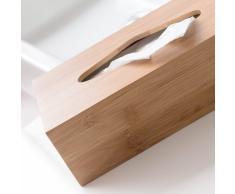 Quantio Dévidoir à mouchoirs cosmétiques en bois de bambou