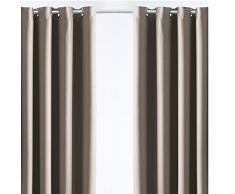 CDaffaires Rideau thermique et isolant Phonique 140x240 cm Nuit calme Beige