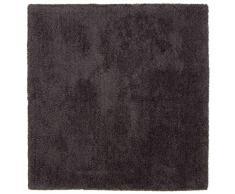 CarpetFine: Tapis Shaggy à Poils Longs Softly carré 200x200 cm Gris - Monochrome