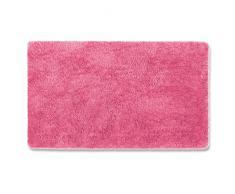 Tapis de bain rose vif   certifié Oeko-Tex 100 et lavable   poil très doux   plusieurs tailles au choix - 80x150cm