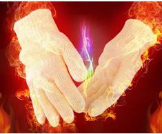 Qingsun 1paire Gants Anti Chaleur en Coton Résistant Barbecue Mitaines de Maniques Perfct pour Cuire, Griller, Cuire au Four, Micro-Ondes